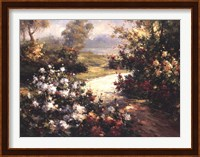 Framed Pathway of Flowers
