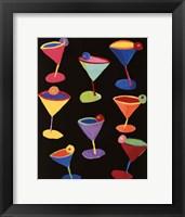 Midnight Martinis Framed Print