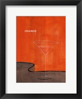 Framed Orange Martini