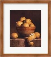 Framed Lemons in a Bowl with Peel