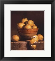 Framed Lemons in a Bowl with Peel