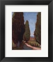 Framed Cypress Trees I