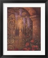 Framed Wisteria Garden II