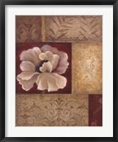 Framed Patchwork Poppy