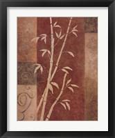 Framed Bamboo Silhouette I