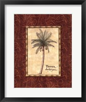 Framed Red Passion Palm I