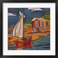 Cabanas Framed Print