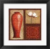 Oriental Collage IV Framed Print