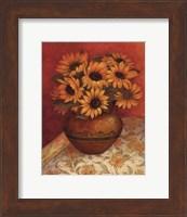 Framed Tuscan Sunflowers I - mini