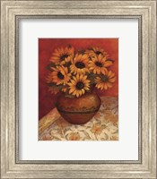 Framed Tuscan Sunflowers I - mini