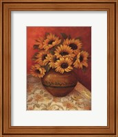 Framed Tuscan Sunflowers II - mini