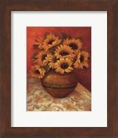 Framed Tuscan Sunflowers II - mini
