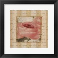 Framed Rose & Romance I