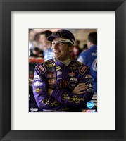 Framed Jamie McMurray portrait with Crown Royal uniform with big grin