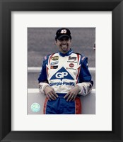 Framed Kyle Petty portrait in Georgia Pacific uniform, 2004 Nextel