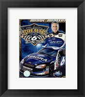 Framed 2006 Mark Martin collage- car, number, driver and signature