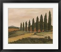 Framed Shady Tuscan Road