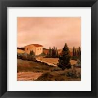 Framed Sunny Tuscan Fields