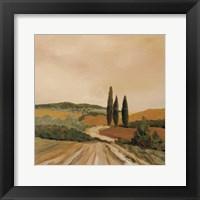 Framed Shady Tuscan Fields