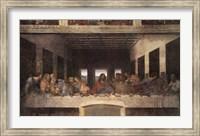Framed Last Supper, c.1498 (post-restoration)