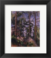 Framed Pines and Rocks (Fontainebleau), c. 1897