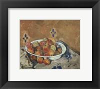 Framed Plate of Apples, c. 1897