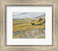 Framed Enclosed Field with Ploughman