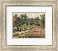 Framed View from the Artist's Window, Eragny