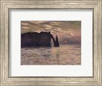 Framed Cliff, Etretat, Sunset, 1883