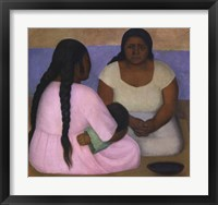 Framed Two Women and a Child