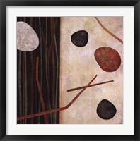 Framed Sticks and Stones I