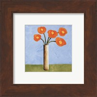 Framed Marmalade Bouquet I