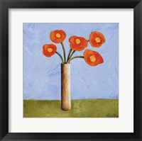 Framed Marmalade Bouquet I