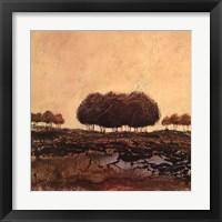 Framed Oak Trees