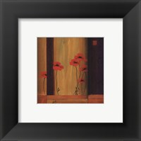Framed Poppy Tile I