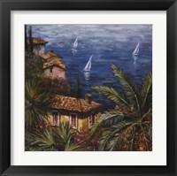 View Through Palms Framed Print