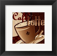 Framed Caf Latte