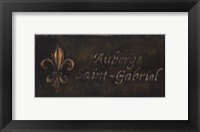 Framed Auberge Saint-Gabriel