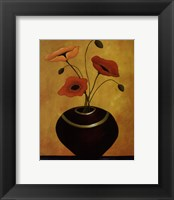Framed Poppy Flirtation I