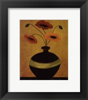 Framed Poppy Flirtation II