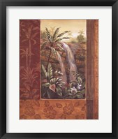 Framed Tropical Waterfall I