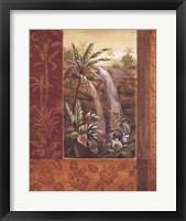Tropical Waterfall I Framed Print