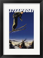 Framed Steamboat Ski Poster