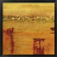 Framed Orange Landscape