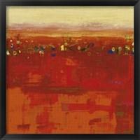 Framed Red Landscape