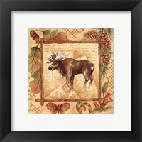 Framed Moose - square