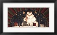 Framed Snowman Arch
