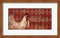 Framed Old Rooster