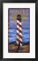 Framed Welcome - Lighthouse