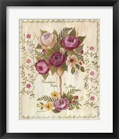 Romantiques Roses Framed Print